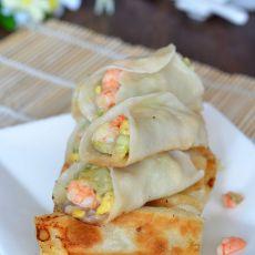 西葫芦鸡蛋虾仁锅贴