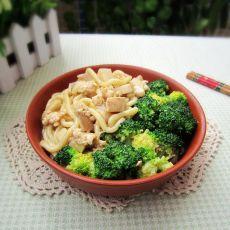 鸡茸鲜菇面的做法