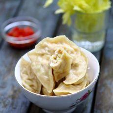 豆腐皮芹菜肉饺