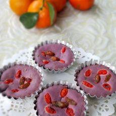 紫薯小发糕