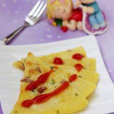 童年记忆中的营养肉松鸡蛋饼