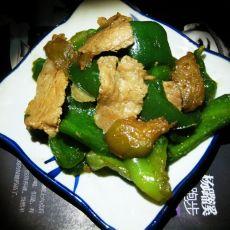 青椒茄子炒肉片
