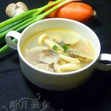 白玉菇花蛤双鲜汤