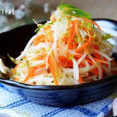 绿豆芽炒海蜇