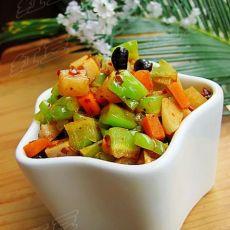 巧手待客菜----牛肉豆豉苦瓜丁的做法
