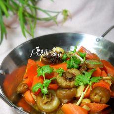 胡萝卜炖猪尾的做法