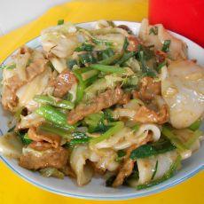 白菜肉片炒年糕