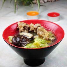 香菇白菜鸡骨汤