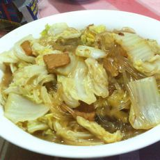 肉片粉条炖白菜