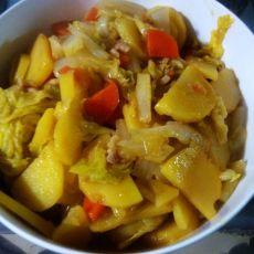 白菜炖土豆