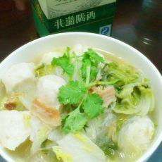 鱼丸白菜粉丝煲的做法