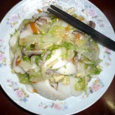 白菜肉丝炒年糕