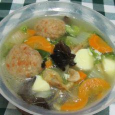肉丸鲜杂汤