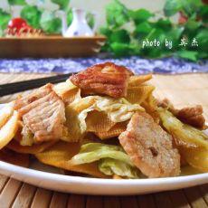 干豆腐炒白菜片