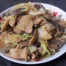 猪肉白菜炒蘑菇的做法
