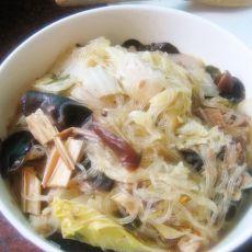 杂蔬菇粉丝煲的做法