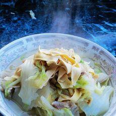 干豆腐炖白菜