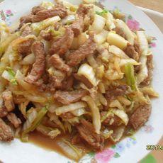 白菜丝炒肉