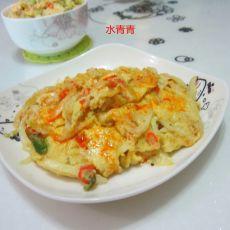 白菜丝煎蛋的做法