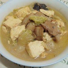 香菇白菜炖豆腐