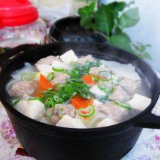 白菜豆腐猪肉丸子