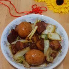 红烧肉烩白菜