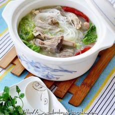 羊排白菜煲的做法
