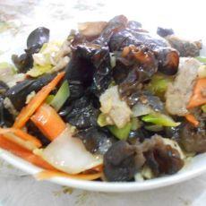 炒木耳白菜片