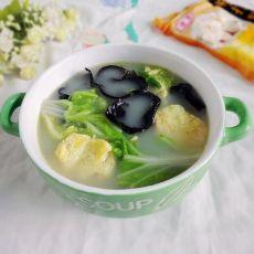 白菜木耳鸡蛋汤