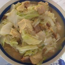 冻豆腐炖白菜