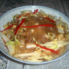 白菜炒红薯粉