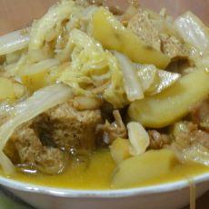 土豆炖白菜的做法