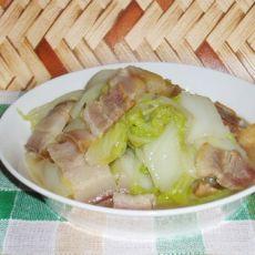 咸猪肉炒白菜