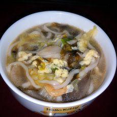 白菜平菇热汤面