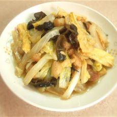 木耳腐竹炒白菜