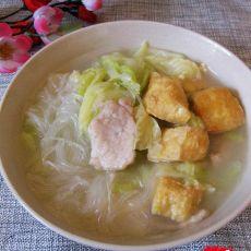 白菜粉丝豆泡汤