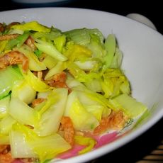 虾米白菜的做法