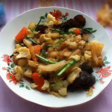 白菜炒菜花