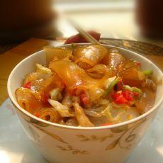 剁椒白菜肉丝炒粉条