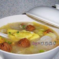 蛋饺粉丝白菜汤的做法
