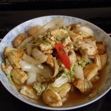 白菜丝烧豆腐的做法