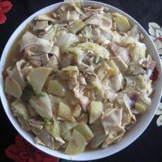干豆腐白菜炖土豆片的做法