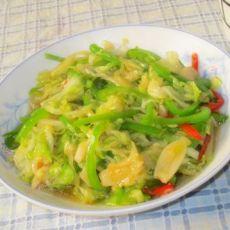 青椒白菜丝