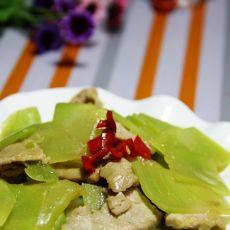 青笋炒肉片的做法
