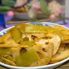 莴笋炒藕片