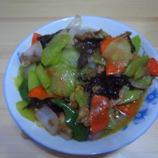 莴笋肉片的做法