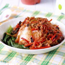 鱼香肉丝盖浇饭的做法