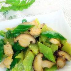 香菇鸡片炒莴笋