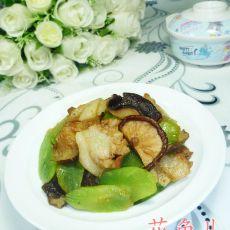 香菇莴笋炒肉片