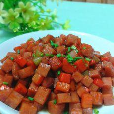 胡萝卜烤肠丁